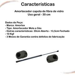 Amortecedor capota de fibra de vidro Uso geral - 30 cm