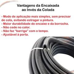 Borracha Couro de Cobra Proteção da porta 7X14 mm preta 10 m