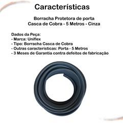 Borracha Protetora Porta Casca de Cobra Universal Cinza 5 m