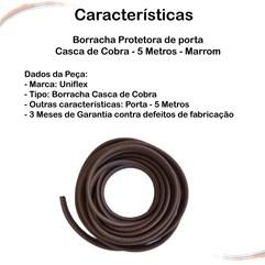 Borracha Protetora Porta Casca de Cobra Universal Marrom 5 m