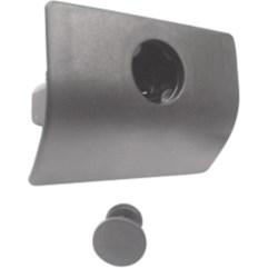 Fecho Porta-luvas Com Alojamento P/ Cilindro Cordoba (cinza)