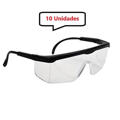 Kit 10 óculos Protetor Epi Incolor Haste Regulagem Com CA