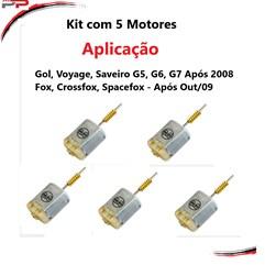 Kit 5 Motor Fechaduras Fox Ap 09 Gol-Voyage-Saveiro G5, 6, 8
