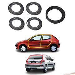 Kit Borrachas Porta e Porta Mala Peugeot 206 207 4pts