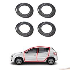 Kit Borrachas Premium de Porta Sandero Duster 4 Portas
