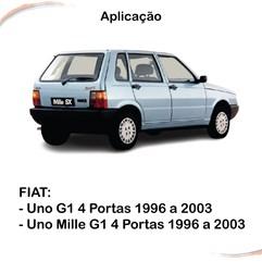 Kit Maçaneta Fechadura Botão C/ Chave Porta Mala Uno 96 a 03