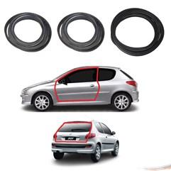 Kit Par Borrachas Porta e Porta Mala Peugeot 206 207 2 Pts
