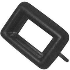 Moldura Interruptor Vidro Elét Simples Preta Gol G1 Até 96