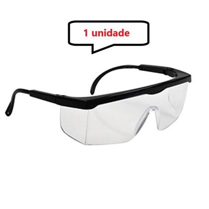 Óculos Proteção Segurança Incolor Epi 1° Linha Haste Ajuste